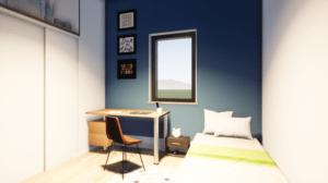 Chambre rendu 3D COTAGE