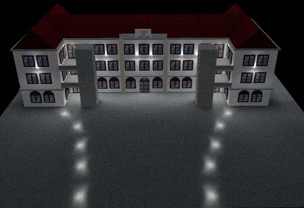 Etude d'éclairement de la maison des associations le creusot - BET DAVENTURE